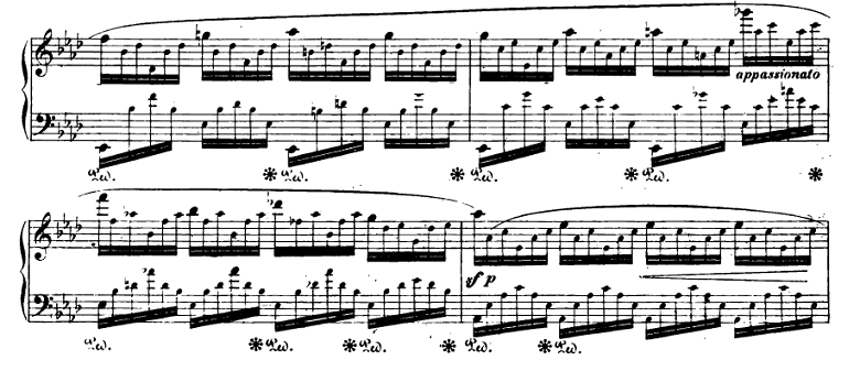 ショパンエチュード『エオリアン・ハープ』 変イ長調Op.25-1ピアノ楽譜4