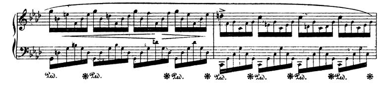 ショパンエチュード『エオリアン・ハープ』 変イ長調Op.25-1ピアノ楽譜5