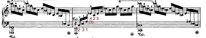 ショパンエチュードOp.10-1「滝」ハ長調 ピアノ楽譜3