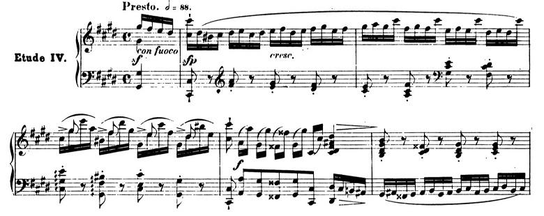 ショパンエチュードOp.10-4嬰ハ短調 ピアノ楽譜1
