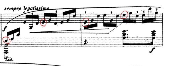 ショパン「黒鍵のエチュード」Op.10-5変ト長調 ピアノ楽譜2