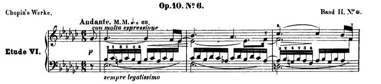 ショパンエチュードOp.10-6変ホ短調 ピアノ楽譜