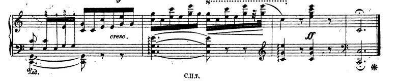 ショパンエチュードOp.10-7ハ長調 ピアノ楽譜3