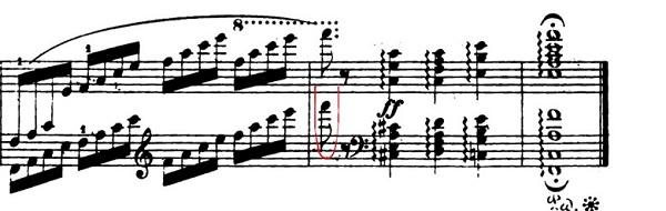 ショパンエチュードOp.10-8ヘ長調 ピアノ楽譜3