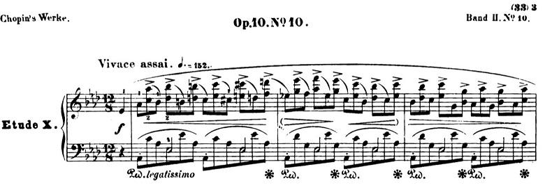 ショパンエチュードOp.10-10変イ長調 ピアノ楽譜1