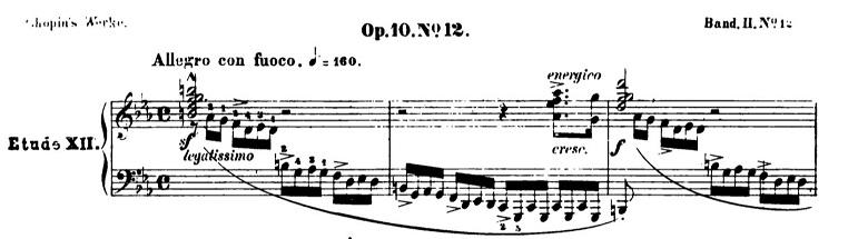 ショパン「革命のエチュード」Op.10-11ハ短調 ピアノ楽譜1