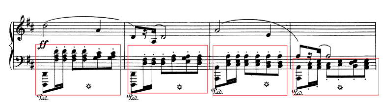 ショパン「ポロネーズ第6番『英雄ポロネーズ』変イ長調Op.53」ポロネーズリズムのピアノ楽譜