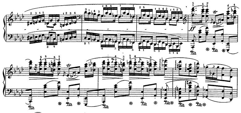 ショパン「ポロネーズ第6番『英雄ポロネーズ』変イ長調Op.53」4回目の主題のピアノ楽譜