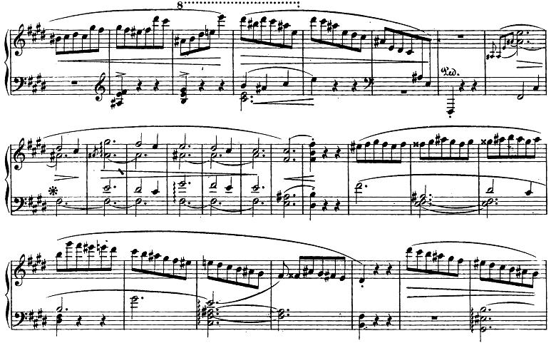 ショパン「スケルツォ第4番ホ長調Op.54」ピアノ楽譜1