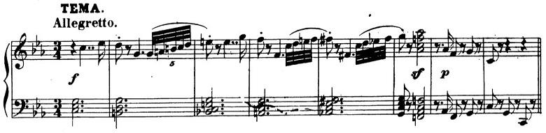 ベートーヴェン「「創作主題による32の変奏曲」ハ短調WoO.80」ピアノ楽譜1