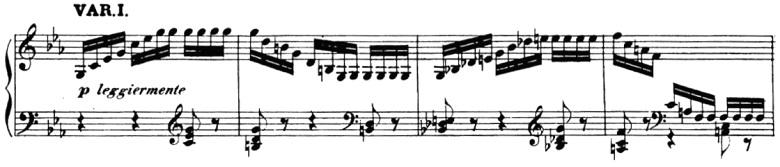 ベートーヴェン「「創作主題による32の変奏曲」ハ短調WoO.80」ピアノ楽譜2