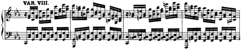 ベートーヴェン「「創作主題による32の変奏曲」ハ短調WoO.80」ピアノ楽譜10