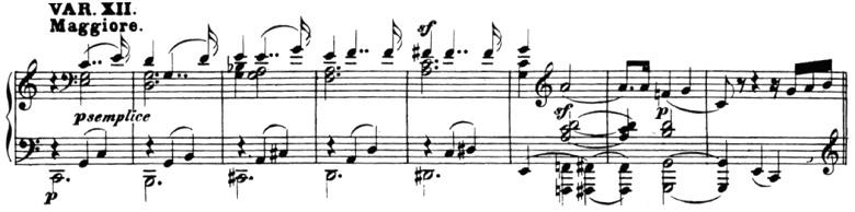 ベートーヴェン「「創作主題による32の変奏曲」ハ短調WoO.80」ピアノ楽譜14
