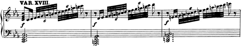 ベートーヴェン「「創作主題による32の変奏曲」ハ短調WoO.80」ピアノ楽譜20