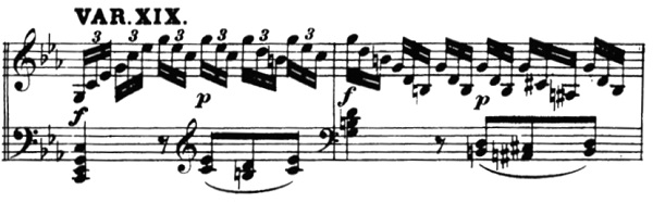ベートーヴェン「「創作主題による32の変奏曲」ハ短調WoO.80」ピアノ楽譜21