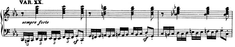 ベートーヴェン「「創作主題による32の変奏曲」ハ短調WoO.80」ピアノ楽譜22
