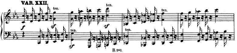 ベートーヴェン「「創作主題による32の変奏曲」ハ短調WoO.80」ピアノ楽譜24