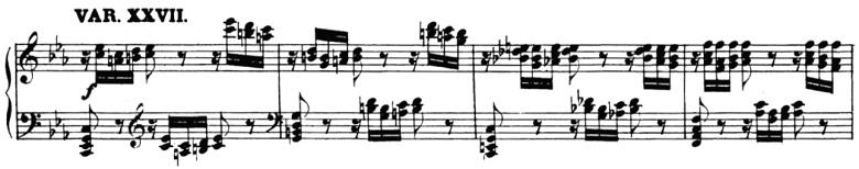 ベートーヴェン「「創作主題による32の変奏曲」ハ短調WoO.80」ピアノ楽譜30