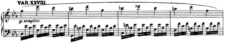 ベートーヴェン「「創作主題による32の変奏曲」ハ短調WoO.80」ピアノ楽譜31