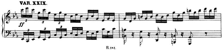 ベートーヴェン「「創作主題による32の変奏曲」ハ短調WoO.80」ピアノ楽譜32
