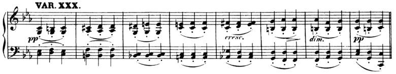 ベートーヴェン「「創作主題による32の変奏曲」ハ短調WoO.80」ピアノ楽譜33