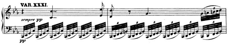 ベートーヴェン「「創作主題による32の変奏曲」ハ短調WoO.80」ピアノ楽譜34