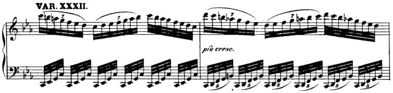 ベートーヴェン「「創作主題による32の変奏曲」ハ短調WoO.80」ピアノ楽譜35