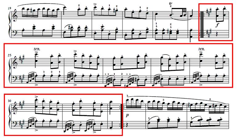 モーツァルト「ピアノソナタ第11番イ長調K.331第3楽章「トルコ行進曲」」ピアノ楽譜1