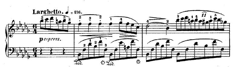 ショパン「ノクターン第1番変ロ短調Op.9-1」ピアノ楽譜1