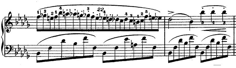 ショパン「ノクターン第1番変ロ短調Op.9-1」ピアノ楽譜2
