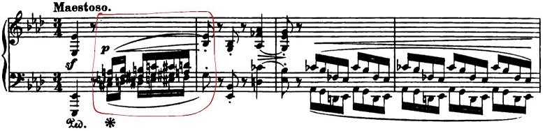 ショパン「ポロネーズ第6番『英雄ポロネーズ』変イ長調Op.53」序奏のピアノ楽譜