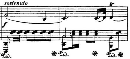ショパン「ポロネーズ第6番『英雄ポロネーズ』変イ長調Op.53」sostenuto部分のピアノ楽譜