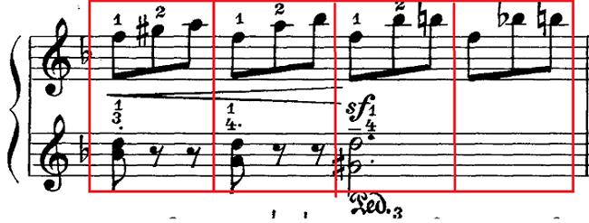 マイカパル「小さな組曲第7番ニ短調Op.30-7」ピアノ楽譜1