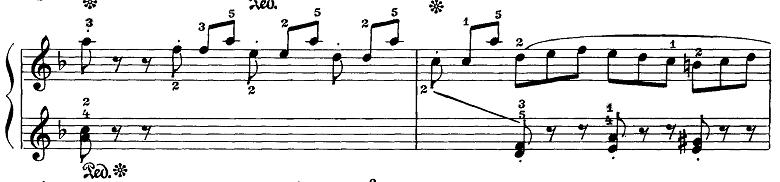 マイカパル「小さな組曲第7番ニ短調Op.30-7」ピアノ楽譜3