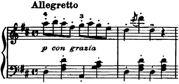 ゴセック「ガヴォット(ガボット)」ニ長調 ピアノ楽譜1