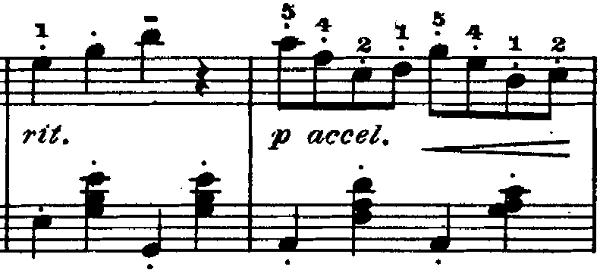 ゴセック「ガヴォット(ガボット)」ニ長調 ピアノ楽譜2
