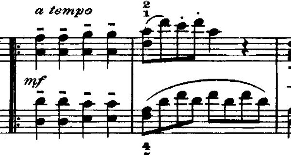 ゴセック「ガヴォット(ガボット)」ニ長調 ピアノ楽譜3