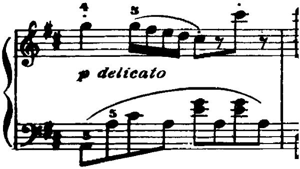 ゴセック「ガヴォット(ガボット)」ニ長調 ピアノ楽譜4