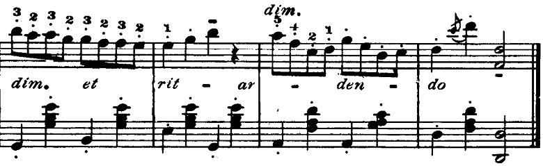 ゴセック「ガヴォット(ガボット)」ニ長調 ピアノ楽譜5