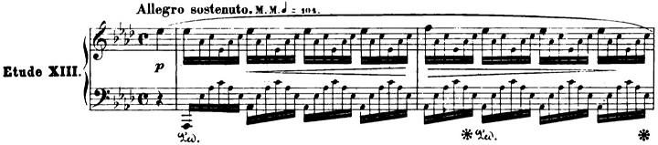 ショパンエチュード第1番『エオリアン・ハープ』 変イ長調Op.25-1ピアノ楽譜1