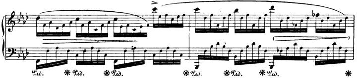 ショパンエチュード第1番『エオリアン・ハープ』 変イ長調Op.25-1ピアノ楽譜2