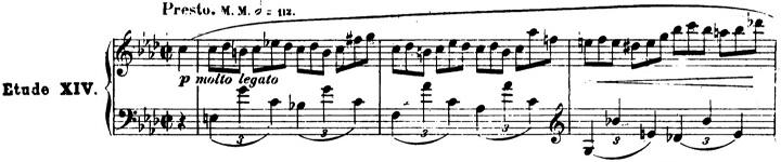 ショパンエチュード第2番ヘ短調Op.25-2ピアノ楽譜