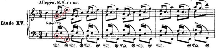 ショパンエチュード第3番ヘ長調Op.25-3ピアノ楽譜1