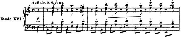 ショパンエチュード第4番イ短調Op.25-4ピアノ楽譜