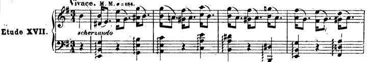 ショパンエチュード第5番ホ短調Op.25-5ピアノ楽譜1