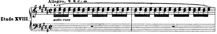 ショパンエチュード第6番嬰ト短調Op.25-6ピアノ楽譜1