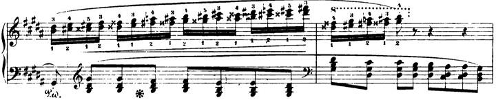 ショパンエチュード第6番嬰ト短調Op.25-6ピアノ楽譜2