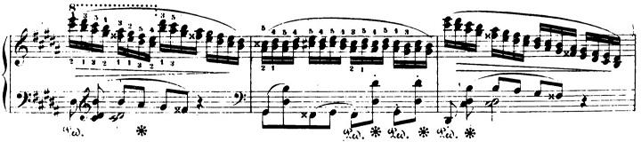ショパンエチュード第6番嬰ト短調Op.25-6ピアノ楽譜3