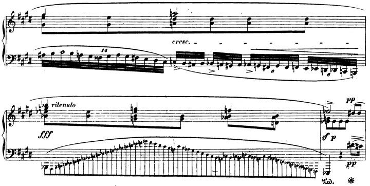 ショパンエチュード第7番「恋の二重唱」嬰ハ短調Op.25-7ピアノ楽譜2