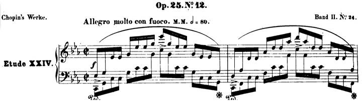 ショパンエチュード第12番「大洋」ハ短調Op.25-12ピアノ楽譜